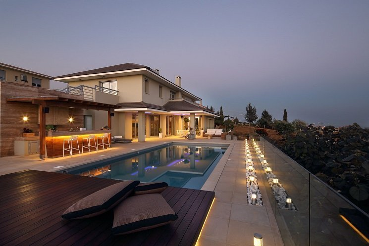 villa with large swimming pool